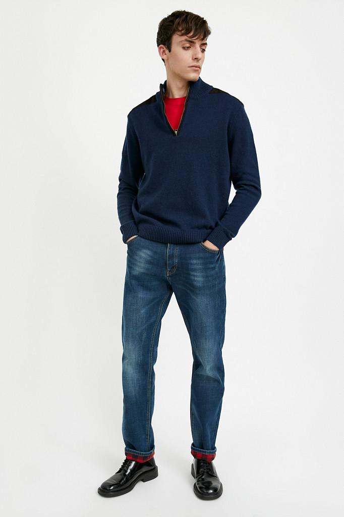 Джинсы мужские Finn Flare, цвет темно-синий, размер W31L34 - фото 1