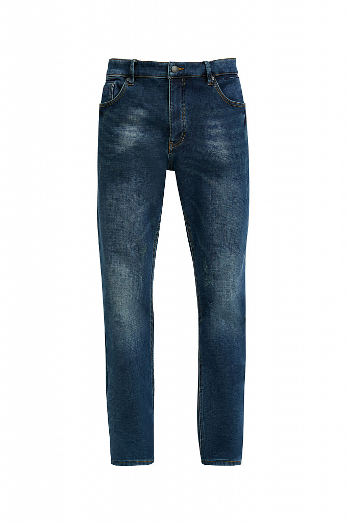 Джинсы мужские Finn Flare, цвет темно-синий, размер W32L36 - фото 7