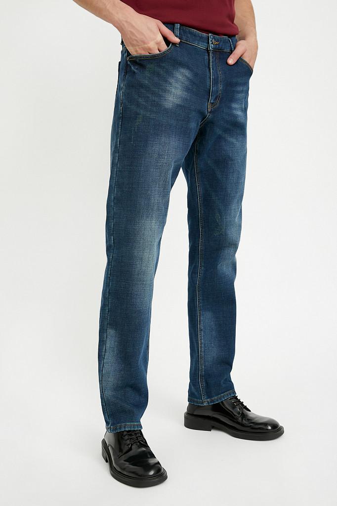 Джинсы мужские Finn Flare, цвет темно-синий, размер W36L36 - фото 2