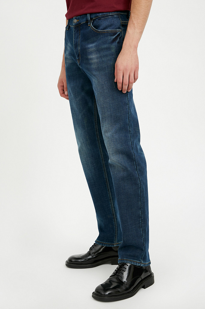 Джинсы мужские Finn Flare, цвет темно-синий, размер W36L36 - фото 3