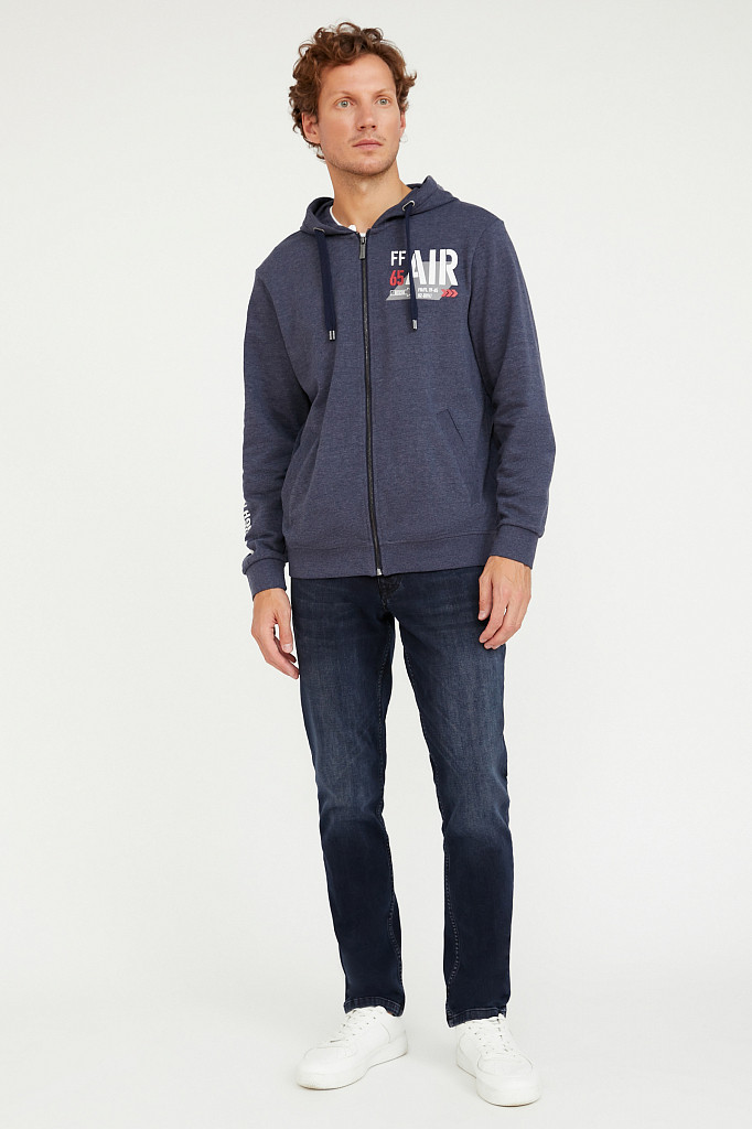 Джинсы мужские Finn Flare, цвет темно-синий, размер W36L36 - фото 1