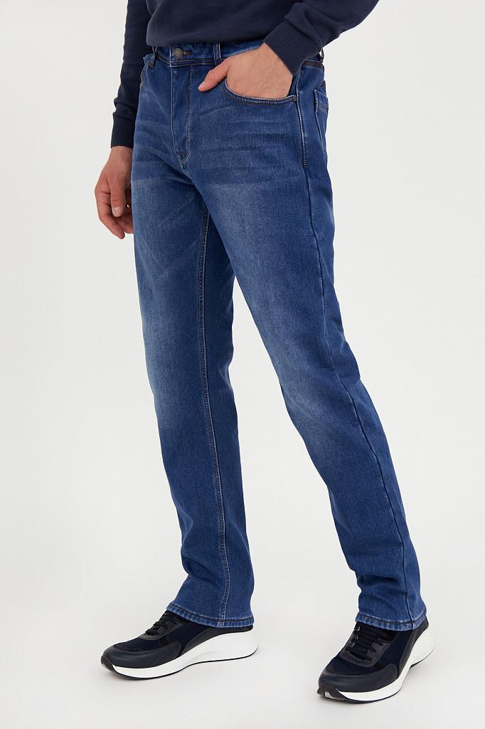 Джинсы мужские Finn Flare, цвет синий, размер W36L36 - фото 3