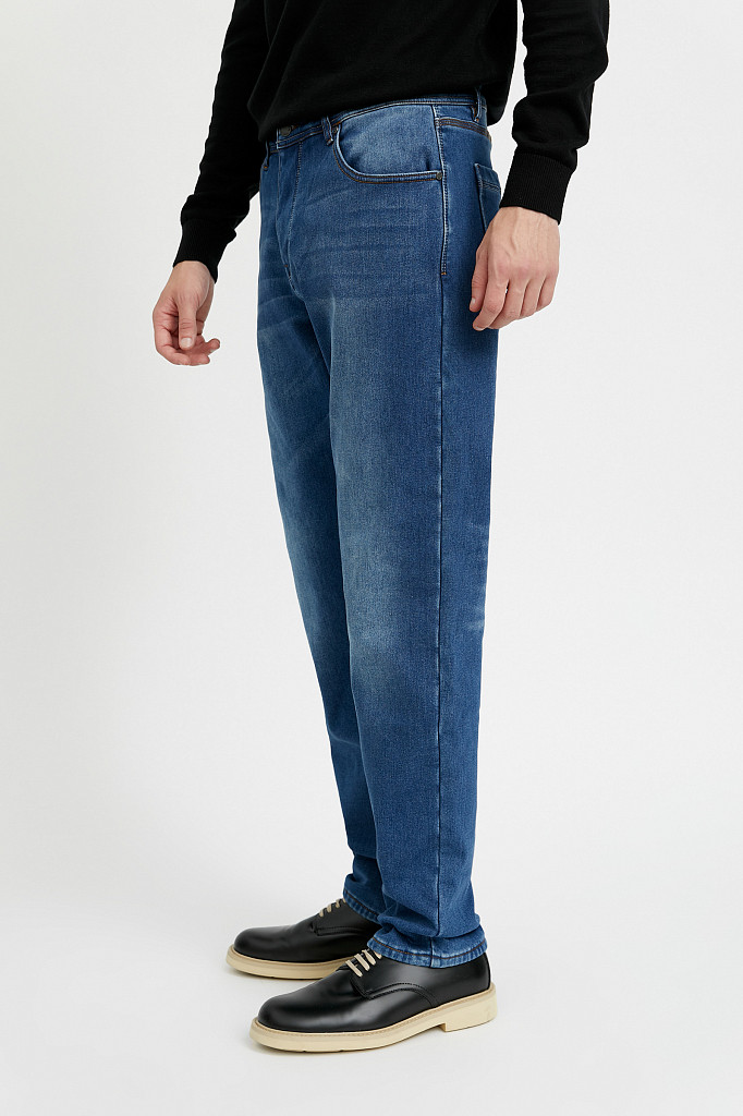 Джинсы мужские Finn Flare, цвет синий, размер W36L36 - фото 4