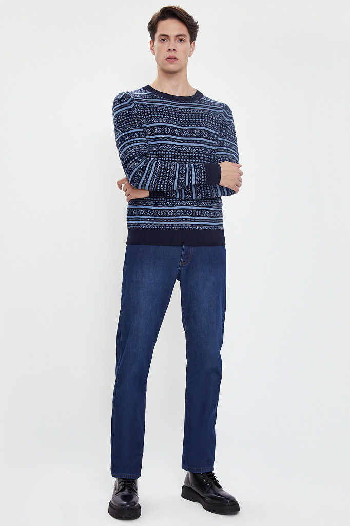 Джинсы мужские Finn Flare, цвет синий, размер W36L36 - фото 1