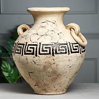Ваза настольная ''Ариадна'' шамот, 38 см, керамика