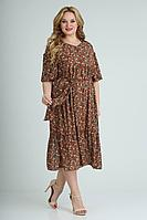 Женское летнее шифоновое большого размера платье Rishelie 842 /1 52р.