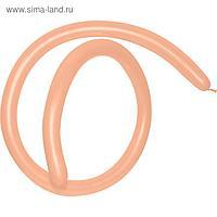 Шар для моделирования 260, стандарт, пастель, персиковый, набор 100 шт.