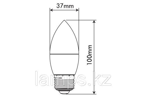 Светодиодная лампа BASIS/5.5W/SMD/E27/2700K/C37/CBOX, фото 2