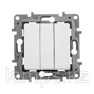 Выключатель трехклавишный - Etika - 10 A - 250 В~ - белый, фото 2