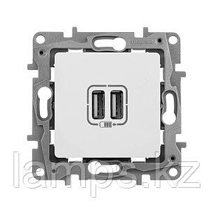 Зарядное устройство с двумя USB-разъемами 240В/5В 2400мА - Etika - белый, фото 2
