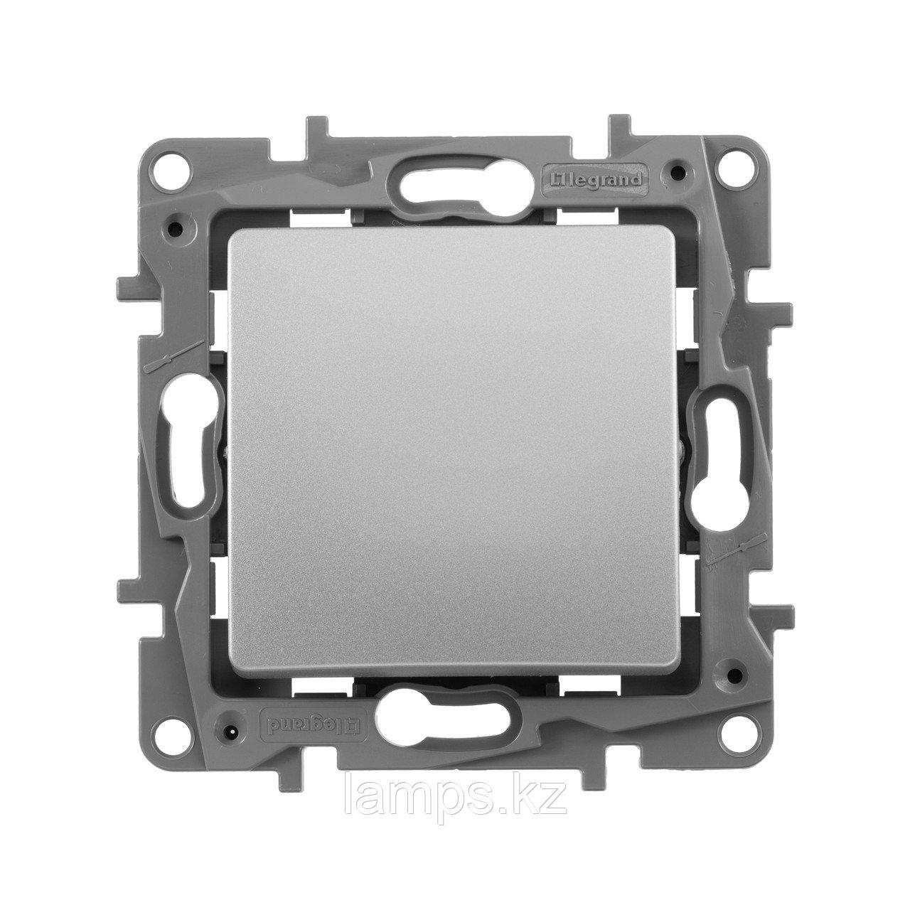 Выключатель одноклавишный - автоматические клеммы - Etika - 10 AX - 250 В~ - алюминий