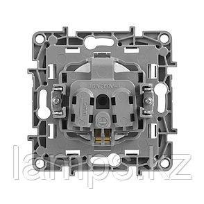 Розетка 2К+З со шторками - немецкий стандарт - винтовые зажимы - 16 А - 250 В~ - Etika - алюминий, фото 2