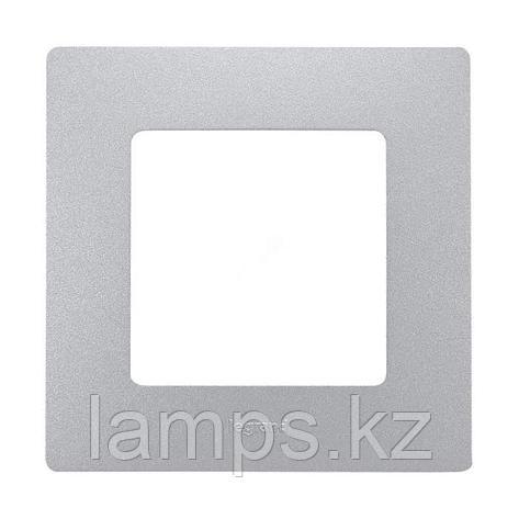 Рамка - 1 пост - Etika - алюминий, фото 2