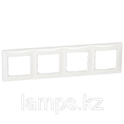 Рамка - Valena - 4 поста - горизонтальный монтаж - белый, фото 2