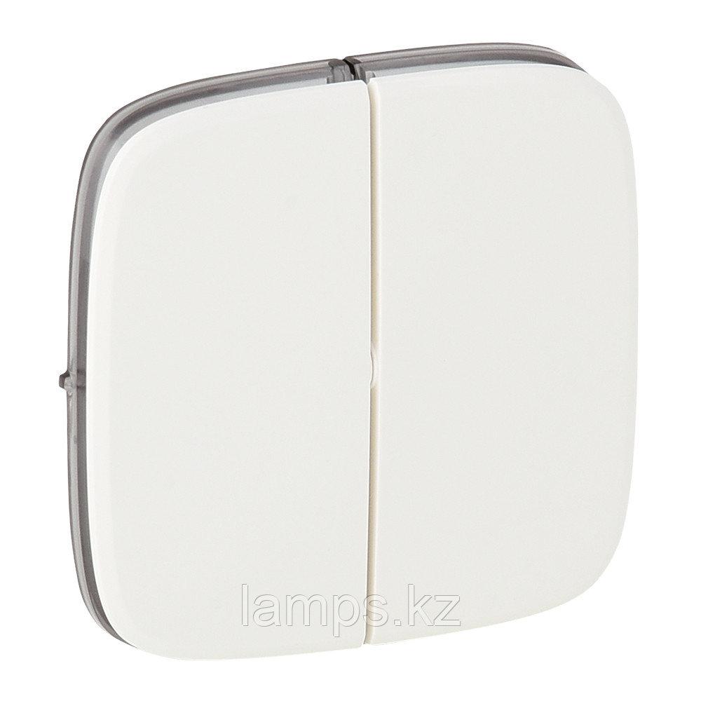 Valena ALLURE.Лицевая панель для двухклавишного выключателя.Белая