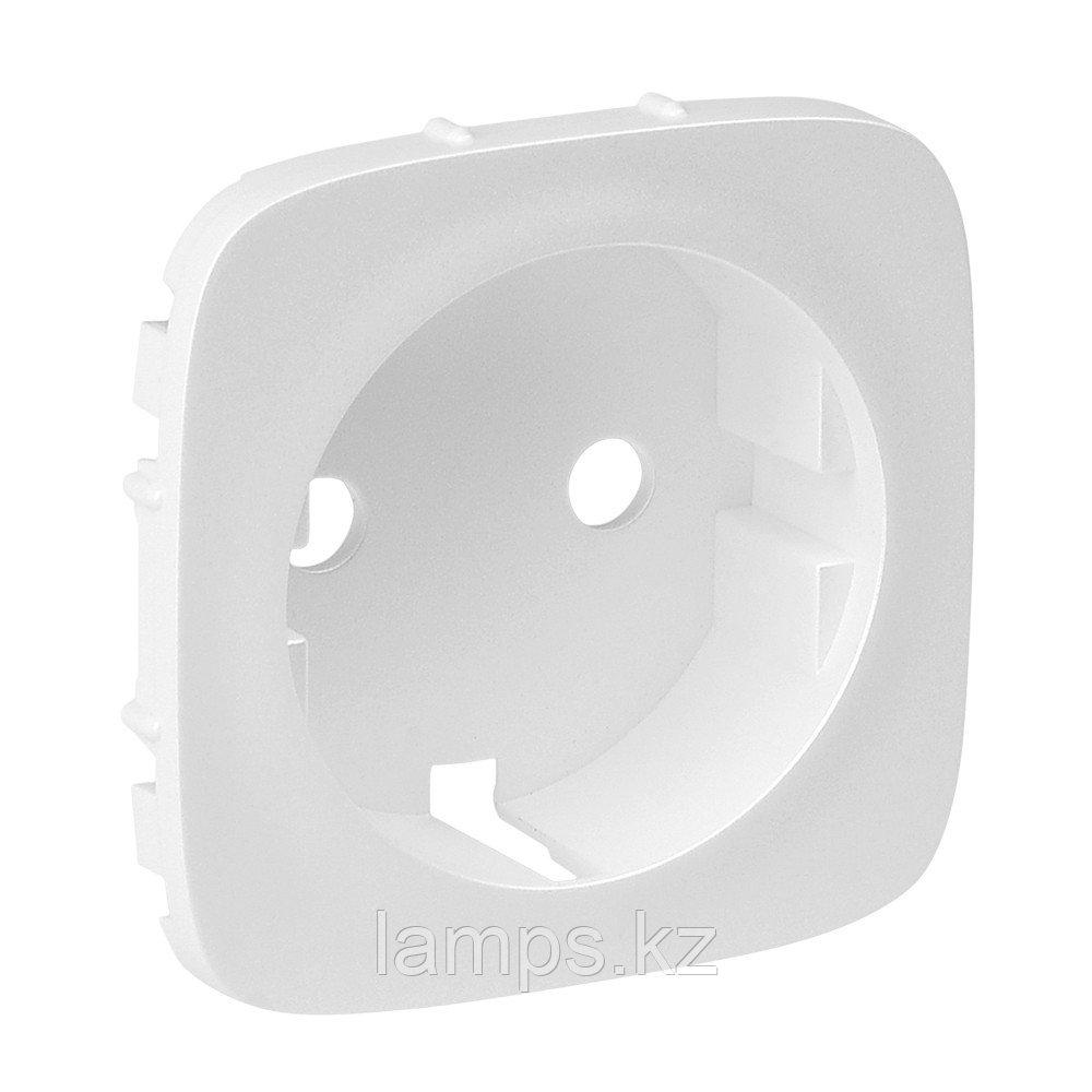 Valena ALLURE.Лицевая панель розетки 2К+З.Белая