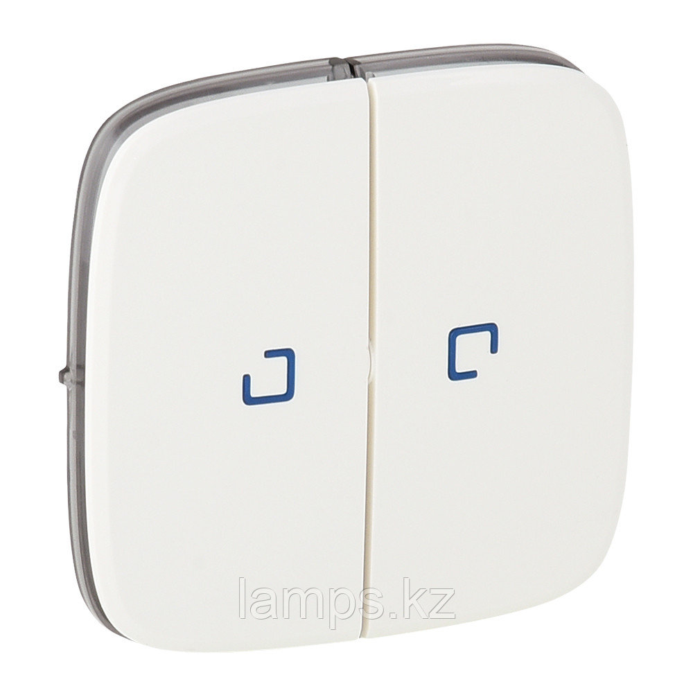 Valena ALLURE.Лицевая панель для выключателя двухклавишного с подсветкой .Белая