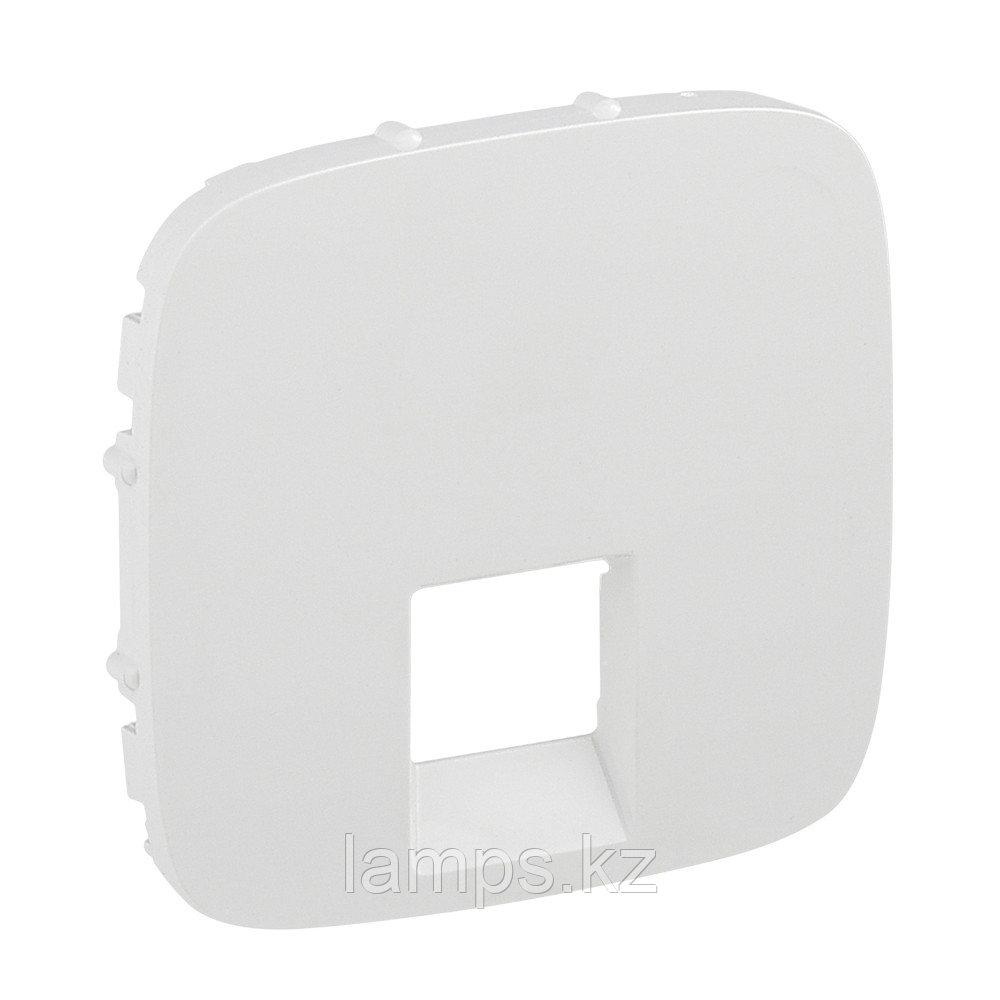 Valena ALLURE.Лицевая панель для одиночных телефонных/информационных розеток.Белая