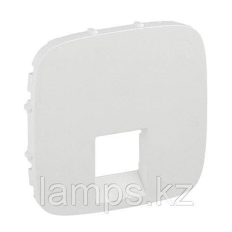 Valena ALLURE.Лицевая панель для одиночных телефонных/информационных розеток.Белая, фото 2