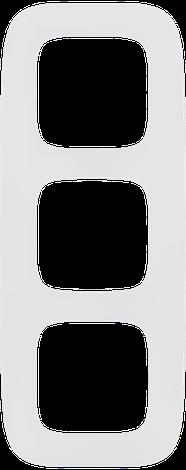 """Valena ALLURE.Рамка """"Белая"""".3-постовая универсальная, фото 2"""