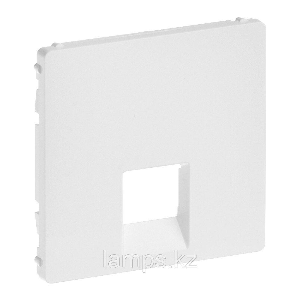 Valena LIFE.Лицевая панель для одиночных телефонных/информационных розеток.Белая
