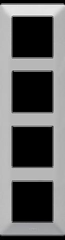 """Valena LIFE.Рамка """"Алюминий"""".4-постовая универсальная, фото 2"""