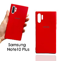 Чехол для смартфона гелевый матовый для Samsung Note10 Plus красный