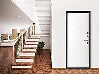 Дверь входная Ferroni Гарда 75 Муар/Белый Ясень (960 мм левое открывание)