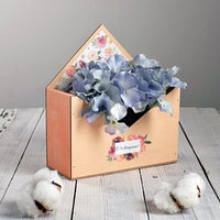 Ящик-конверт для цветов 'С 8 марта' 20,5 х 11,5 х 18,5 см