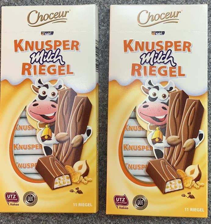 Молочный шоколад Choceur 11 батончиков Knusper Riegel