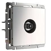 ТВ розетка оконечная (глянцевый никель) WL02-TV, Werkel