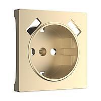 Накладка для USB розетки (шампань) WL11-USB-CP, Werkel