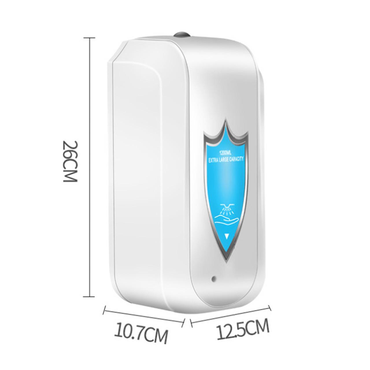 Сенсорный дозатор GL9003 для антисептика (белый) 1200ml