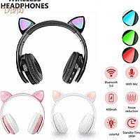 N.H P39M Cat Ear Bluetooth 5.0 Беспроводные наушники гарнитуры со светодиодным световым микрофоном