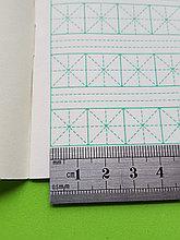 [Комплект 20 шт.] Тетрадь для написания иероглифов. Клетка 14 мм с диагональным пунктиром и расширенным полем