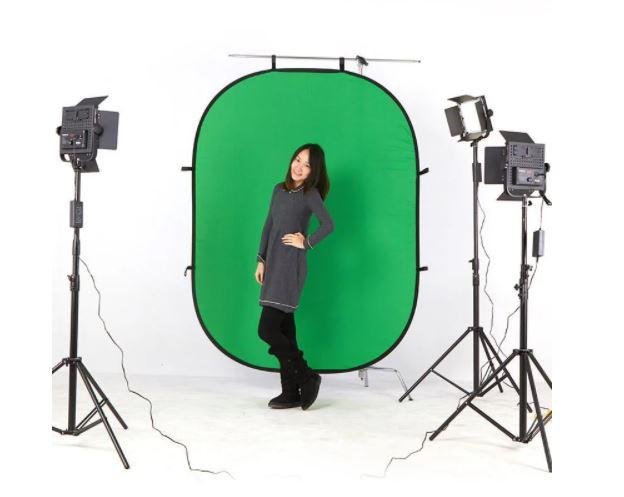 Складной фон для  съёмок ( синий зеленый) 150см Х 100см