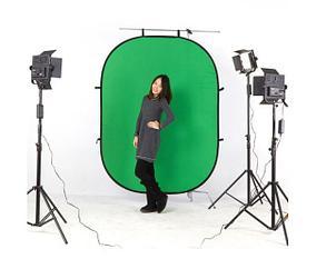 Складной фон для  съёмок ( синий зеленый) 150см Х 100см, фото 2