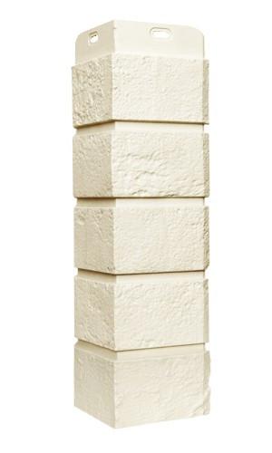Угол наружный Молочный, Состаренный кирпич,серия Стандарт (моноцвет) 417 мм Grand Line