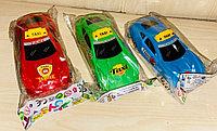 Машинка TAXI разных цветов, пластик 15 см