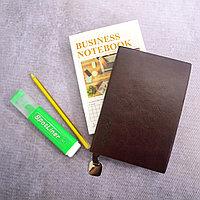 Блокнот в клетку 116 листов формат 72k 10см х 14,3см Business notebook QD-1006-72k маленький коричневый