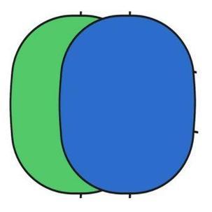 Складной фон для  съёмок ( синий зеленый) 150см Х 200см, фото 2