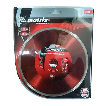 (73190) Диск алмазный отрезной сплошной, 200 х 25,4 мм, влажная резка// MATRIX Professional