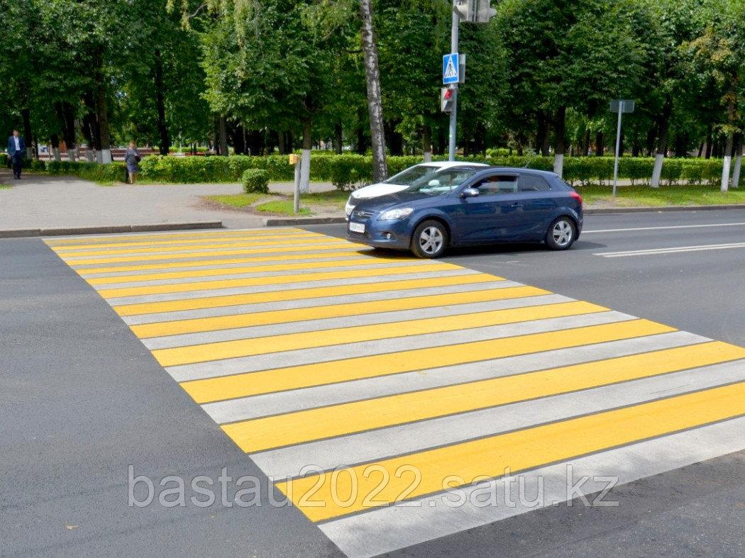 Нанесение дорожной разметки паркинги, ТРЦ, пешеходные переходы, АЗС, велодорожки