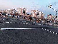 Нанесение дорожной разметки холодным пластиком в городах Нур-Султан, Алматы, Шымкент, фото 1