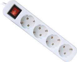 Удлинитель DEFENDER с заземлением и выключателем S418, 1.8 м, 4 розетки