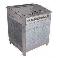 Печь-каменка, (до 31 м3), с парогенератором «ПАРиЖАР», 24 кВт ,  облицовка из природного камня серпентенит, фото 1