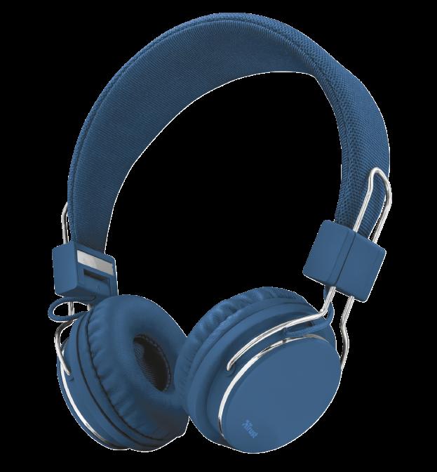 Наушники-накладные проводные Trust UR Ziva синие