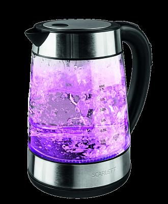 Электрический чайник Scarlett SC-EK27G41 (стекло) черный