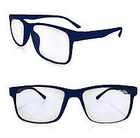Компьютерные очки хамелеоны с тоненькой душкой узкая оправа матовая Plazma темно-синие