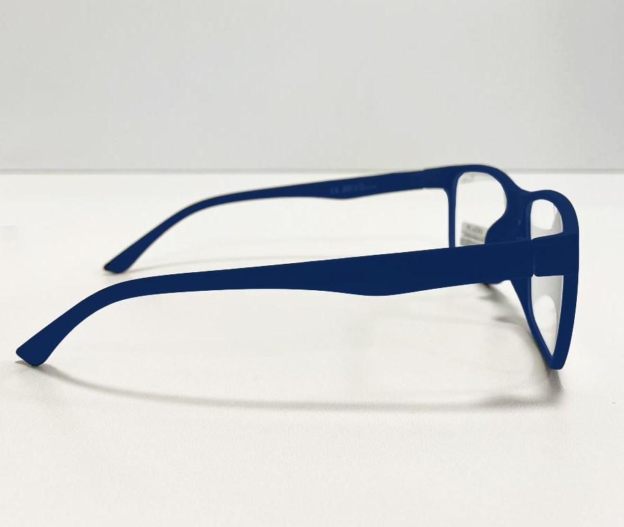 Компьютерные очки хамелеоны с тоненькой душкой узкая оправа матовая Plazma темно-синие - фото 4